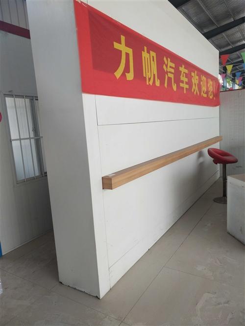 鋼制形象墻,組合柜,約3.5米高,4.5米寬,厚度約45厘米,,吧臺三個組合,約4米左右,吧臺可單個...