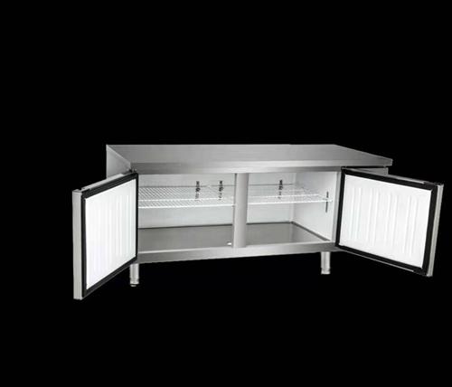 全新乐创1.5*0.8*0.8 双温工作台式冷储柜低价处理,非诚勿扰!