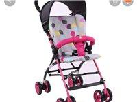 出售全新gb好孩子折疊嬰兒推車,可折疊鋁合金車身,凈重5kg拿取方便,節省空間;棉墊可拆卸清洗;自帶...