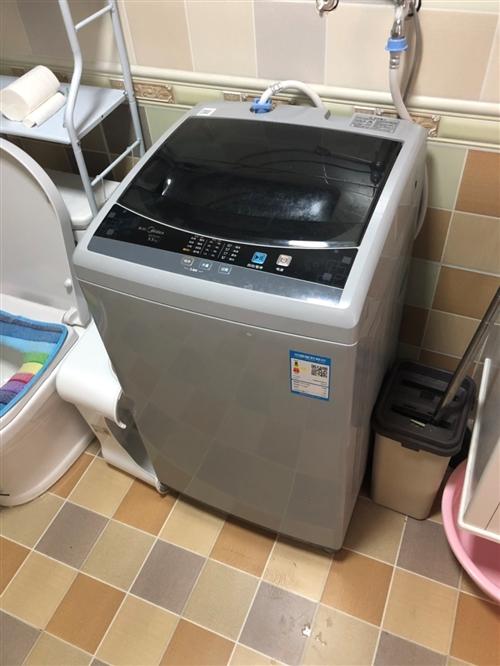 美的全自动洗衣机。海达电器买的。使用十个月。九五成新。 没怎么用。买时899。现在500。非诚勿扰。...