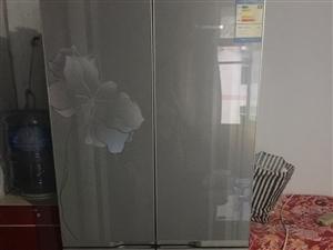 双鹿九成新双开门冰箱,上门来提