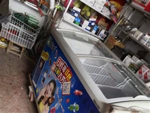 二手自用冰柜出售,八成新,夏天卖雪糕饮料自用两年无破损,买来2000,带框架轮子!