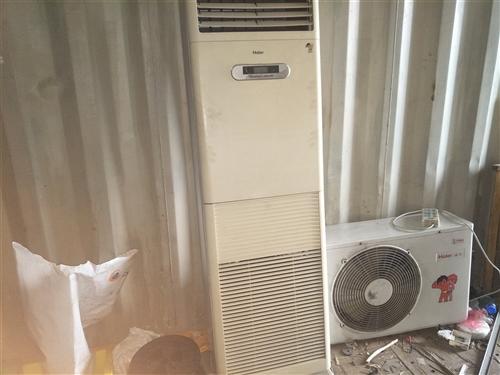 海尔空调2匹柜机2台,大风扇6台,空调1200元一台,风扇60元一台