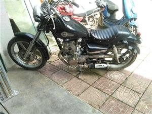 复古双缸125摩托,发动机状况不错,好启动!