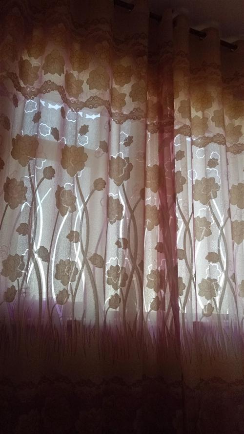 全新窗帘,有帘有纱,高2.6米,有需要联系