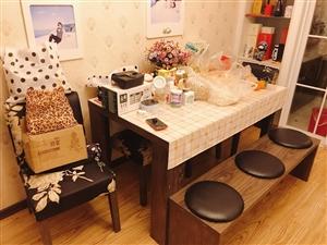 出售九成新 餐桌 餐桌椅(四把椅子 一个长条凳)茶几 茶几凳两个 (可储物)  两套  一共1200...