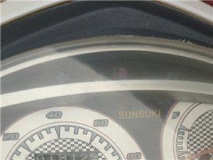 阳光铃木摩托车,一直在家闲置。
