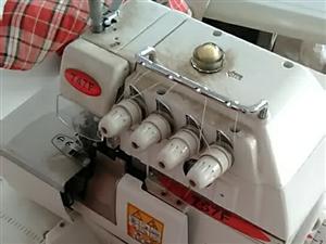 处理9.9成新五线包缝机2台,买了一个多月没怎么用。