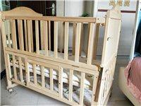 闲置实木无漆多功能双层婴儿床+蚊帐+五件套,有尿布台家里窄没上了,可拼接大床,九成新,现低价转让 ...