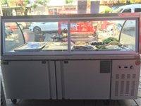 真心想要的价格可以商量!使用不到三个月九成新保鲜冷藏柜!长1.8米宽0.8米一柜两用上面可以保鲜下面...