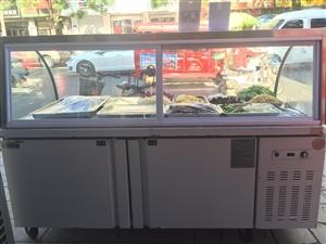 使用不到三个月九成新保鲜冷藏柜!长1.8米宽0.8米一柜两用上面可以保鲜下面是冷冻的!性价比高,有需...