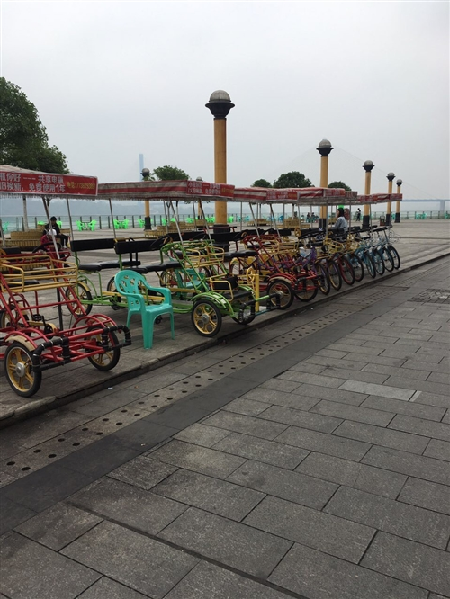观光自行车带摊位整体转让,共31辆,其中豪华款12辆,普通款19辆,新买价格70000+,现带摊位整...