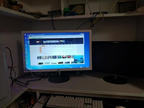 出售全新电脑,27寸显示器,cpu英特尔L5640/6核12线程,内存8G双条,主板 固态稳定电源主...