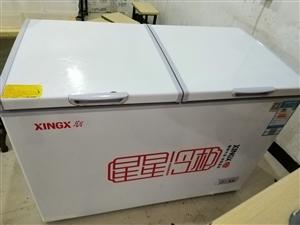 星星(XINGX) 280升 商用卧式冰柜  左冷冻右冷藏 卧式冰箱 顶开门双温双箱冷柜 BCD-2...