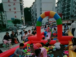 本人急需处理9成新的儿童充气游玩沙池,价钱详谈!