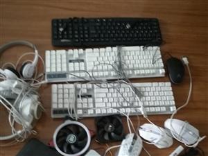 低价出售闲置电脑键盘鼠标分路器耳机光纤猫等,价格面议