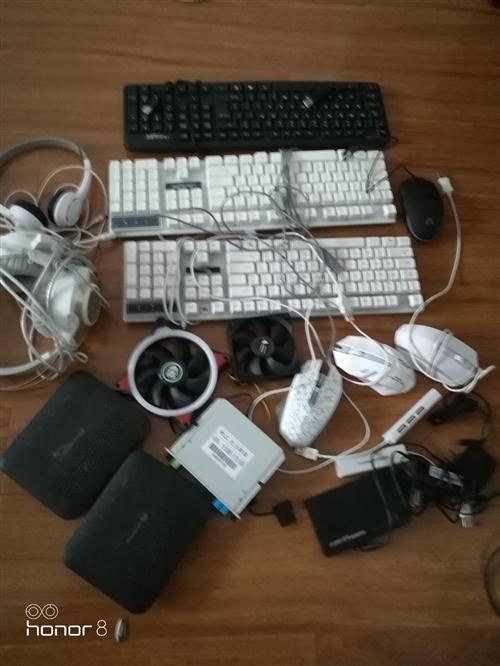 低價出售閑置電腦鍵盤鼠標分路器耳機光纖貓等,價格面議