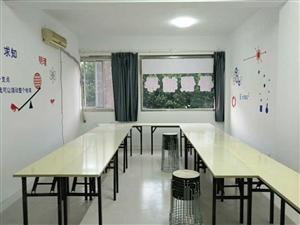 九成新辅导班用可折叠桌子凳子