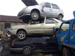 高价回收报废汽车报废铲车电话15393261598  同微信