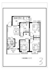 新东城3室 1厅 1卫64万元