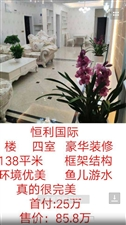 恒利国际4室 2厅 2卫85.8万元