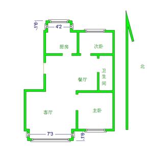 御景花园2室 1厅 1卫48万元