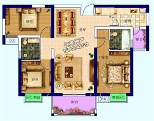 祥瑞花园首付18万电梯房3室 2厅 2卫61万元