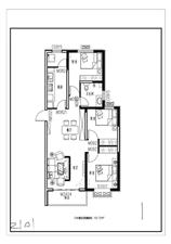出售新东城3居室,总价56万,商品房包过户