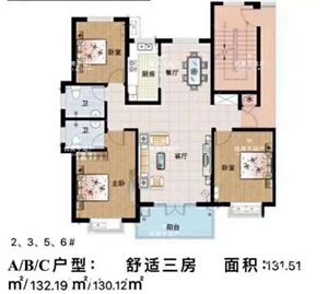 金地名都3室 2厅 1卫90万元