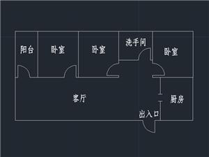 九龙社区三号院3室 2厅 1卫 1300/月