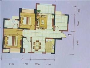城西花园小区3室首付25万,月供只需2000元