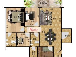 盛世龙城3室 2厅 2卫44万元