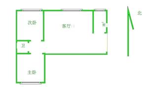 阳光庄园2室 1厅 1卫104万元