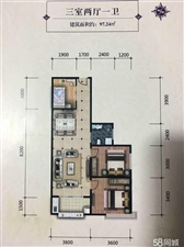 中央公馆3室 2厅 1卫46万