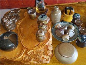 柴烧茶具、花器、花盆、工艺品批发、零售。