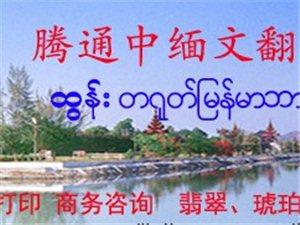 中緬文翻譯