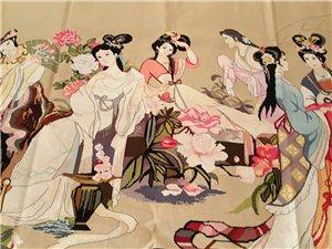 纯手工十字绣成品,品牌布的,长2米89寸,宽189