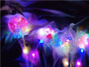 网红新款发光闪光手提波波球透明球灯笼圆形爱心
