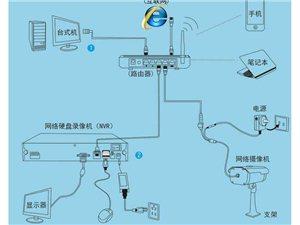 商戶、家庭監控安裝調試網絡布線路由安裝調試
