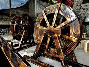 广安华蓥景观水车长廊木制工艺品生产厂家改建仿古凉亭