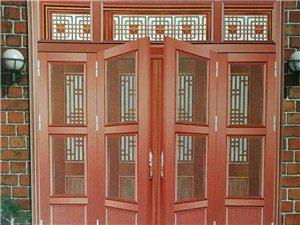 专业生产批发铝合金大门金刚网纱窗门