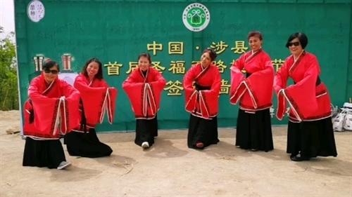 """从邯郸慕名而来参加我们圣福天路""""槐花节""""的汉服美女们!"""