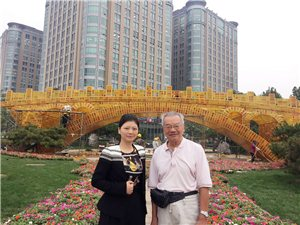 """""""丝路金桥""""装点国庆长安街:续写古老中国当代开放故事"""