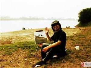 三峡画院画家。走进枝江写生。剪影.1