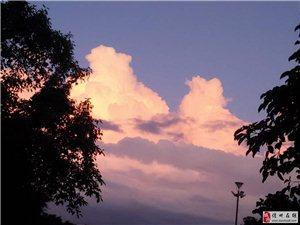 夕阳西下,美极了!