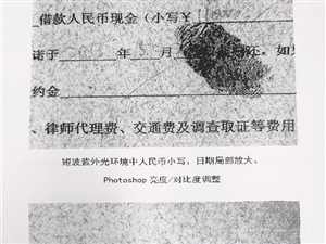 浙江一男子用褪色笔写借条 11万元借据变成白纸