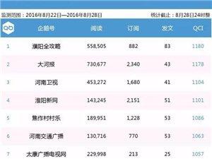 新安在线【企鹅生活圈周榜单】第5期河南企鹅号20强第16名