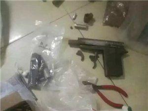 高州一男子不但吸毒,出租屋还有疑似军用手枪1支……