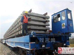 【茂名交通新闻】深茂铁路已单轨铺至马踏镇坡尾特大桥