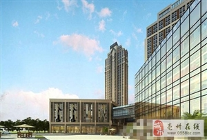 古井城市广场十月份工程进度 一期已建到第十三层